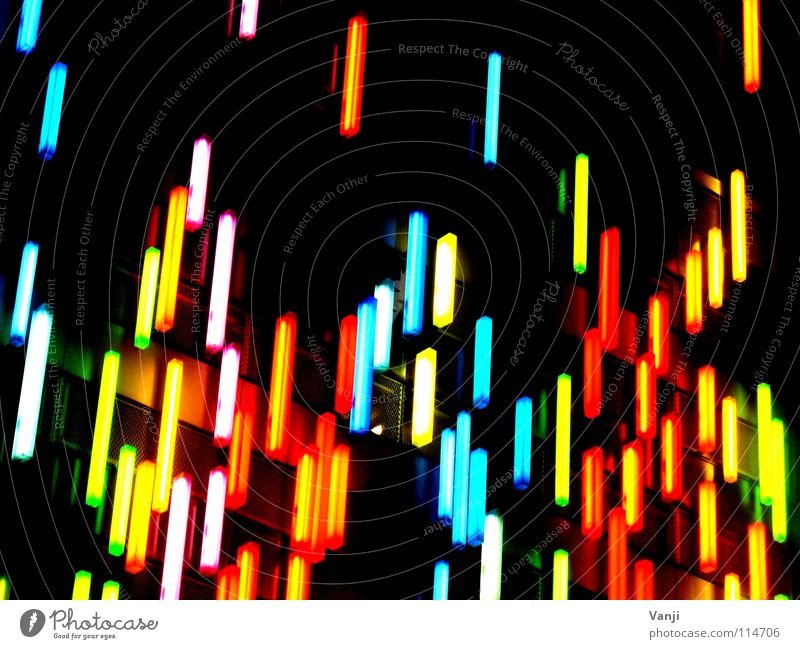 es regnet Farben... Haus schwarz Farbe Lampe dunkel Gebäude Regen Kunst Fassade Dekoration & Verzierung Werbung Neonlicht Zucker Stab Handwerk gestellt