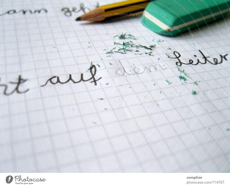 ...ganz schön demlich! Denken Schule Kindheit Schriftzeichen Studium lernen Papier Buchstaben Bildung schreiben Student Kindergarten Leiter dumm Schreibstift