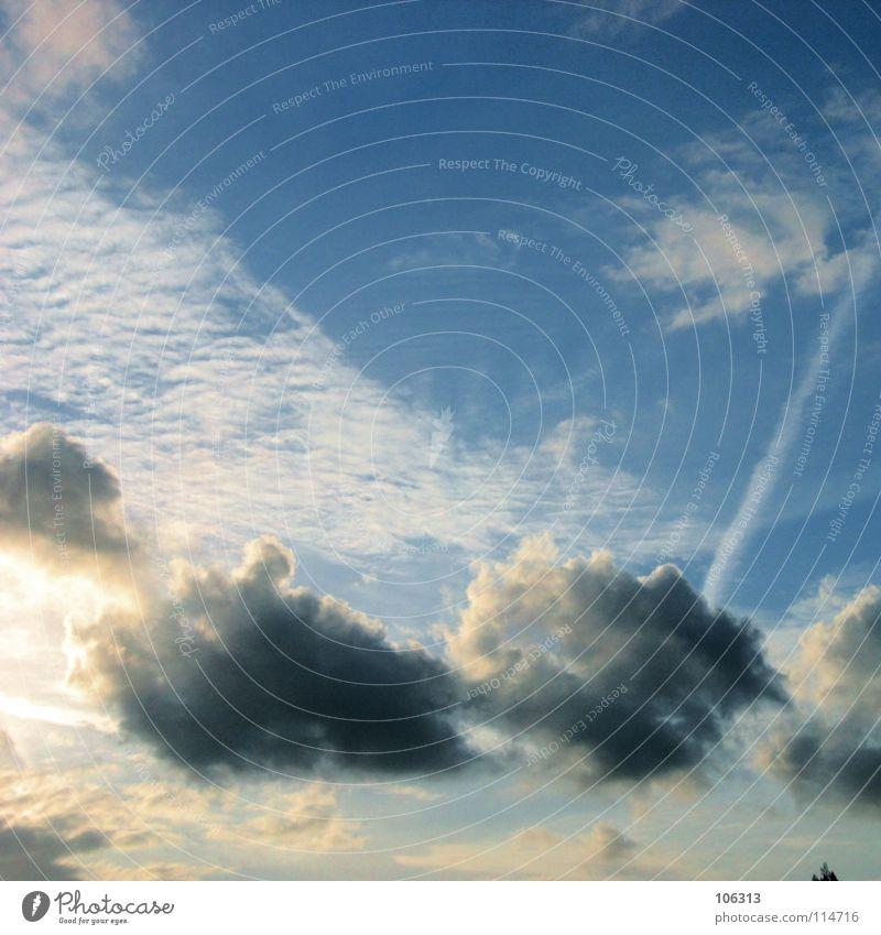 G.CLOUD Himmel Natur blau weiß schön Sonne Wolken schwarz ruhig Haus Farbe gelb dunkel Gefühle Stimmung Regen