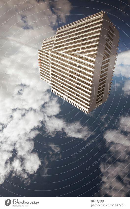 raumstation Stadt blau Haus Fenster Kunst Fassade Hochhaus verrückt Insel Balkon Futurismus Planet Lebensraum verwandeln Raumfahrzeuge Inselbewohner