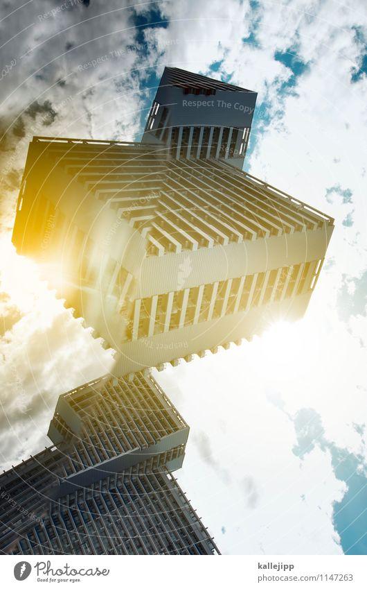 optimus prime Stadt Fenster Wand Mauer Fassade gold Hochhaus Beton Wandel & Veränderung Balkon Futurismus skurril Transformator