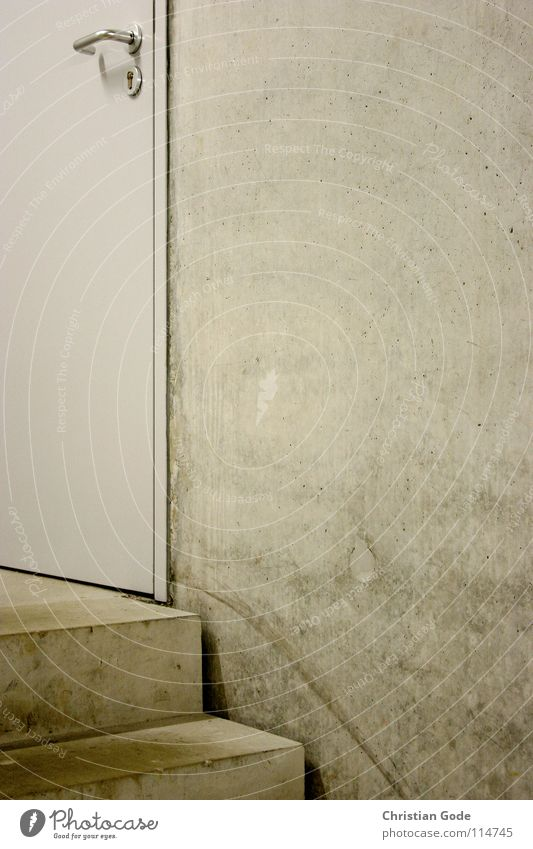 Ausgang Keller Beton Griff grau Treppenhaus Wand Eingang Zeche 'Zollverein' modern Dinge Architektur Tür Feuerschutztür Toilette dreckig Metall Desginschool