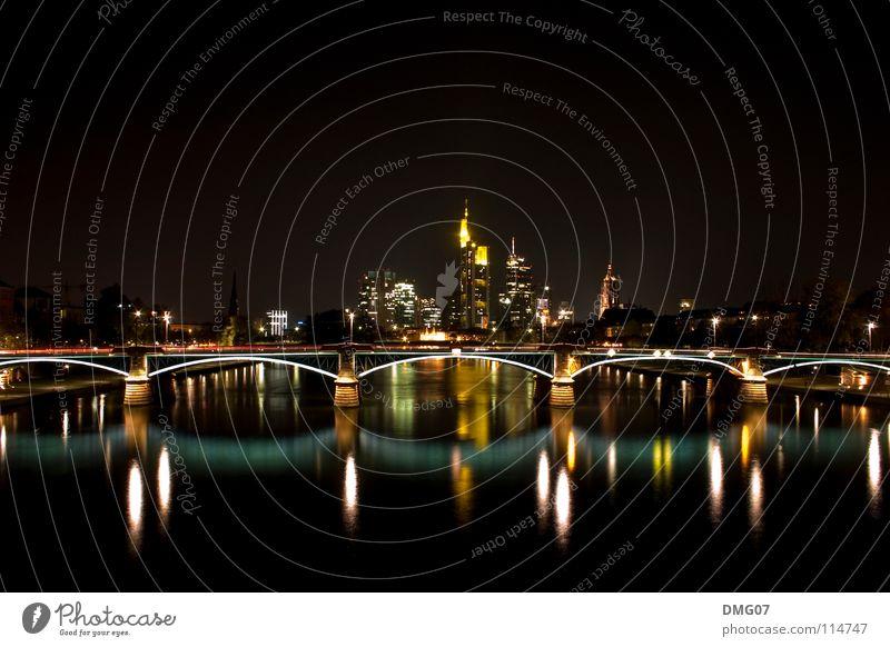 Skyline Mainhattan Stadt Ferien & Urlaub & Reisen Stil Architektur Design Erfolg Tourismus Macht Güterverkehr & Logistik Dienstleistungsgewerbe