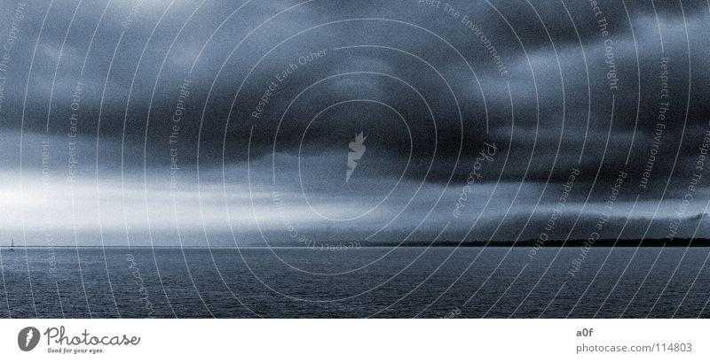 ocean soul Meer Wolken Einsamkeit Wasserfahrzeug bedrohlich Sturm