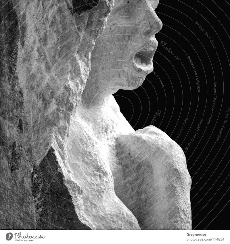 Im Namen Gottes? Skulptur Gefühle Granit Kunst Bildhauerei Kunsthandwerk Schwarzweißfoto Stein Mensch
