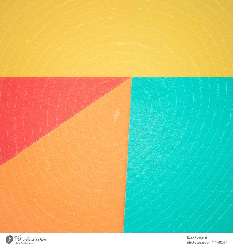 G|T|O/r Design Basteln Linie ästhetisch hell blau mehrfarbig gelb orange rot türkis Farbe Grafik u. Illustration Strukturen & Formen Geometrie Papier