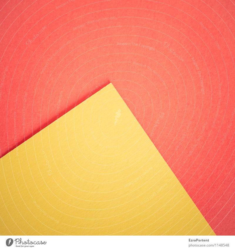 Weltkulturerbe Design Basteln Linie ästhetisch hell gelb rot Farbe Grafik u. Illustration Pyramide Spitze Papier Geometrie diagonal Grafische Darstellung