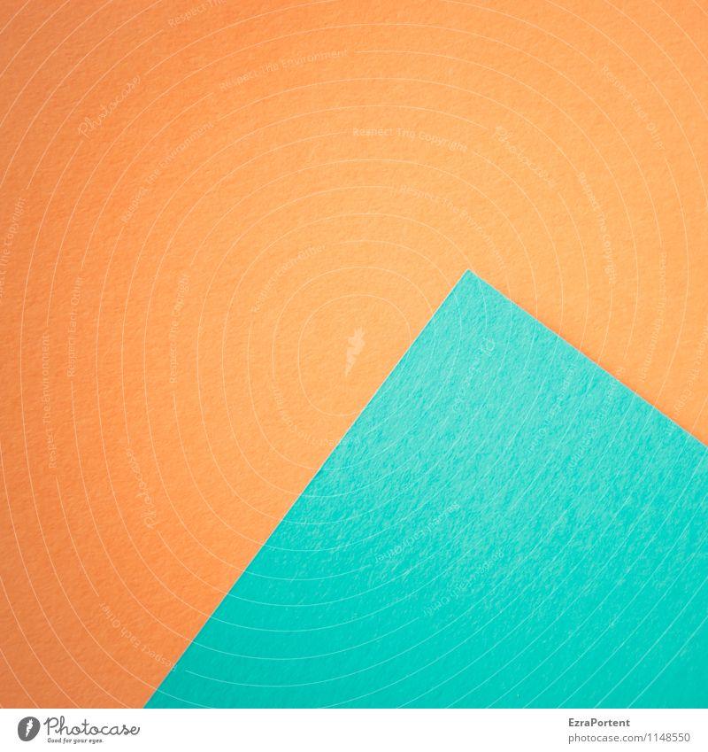 blue pyramid blau Farbe Linie hell orange Design ästhetisch Spitze Papier Grafik u. Illustration graphisch diagonal Geometrie Basteln Pyramide
