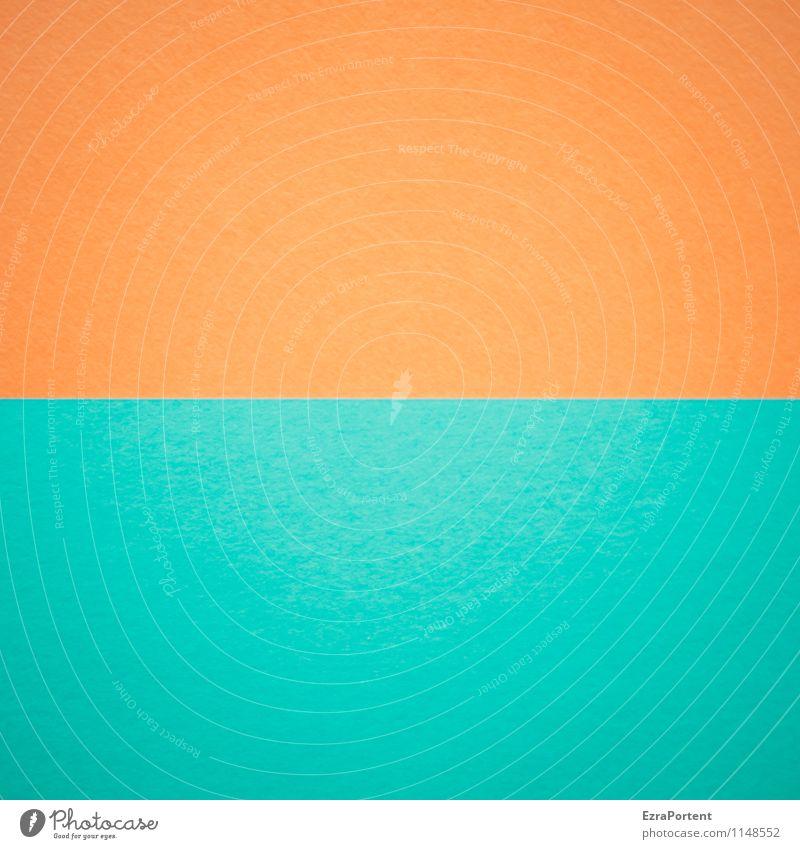 O-T Design Basteln Linie ästhetisch blau orange türkis Farbe Grafik u. Illustration assoziativ Grafische Darstellung graphisch Trennlinie gerade horizontal