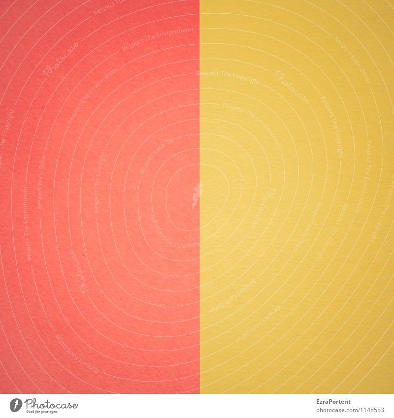 R|G Farbe rot gelb Linie hell Design ästhetisch Papier Grafik u. Illustration graphisch Geometrie gerade Basteln zusammenpassen Grafische Darstellung zweifarbig