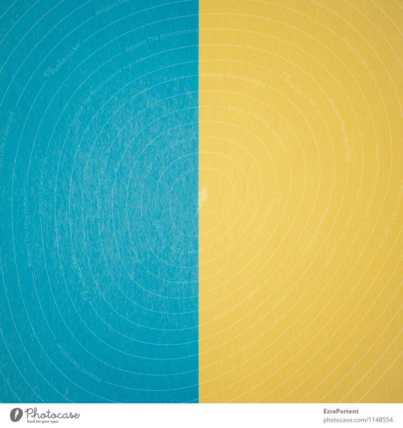 B|G blau Farbe gelb Linie hell Design ästhetisch Grafik u. Illustration graphisch Geometrie gerade Basteln Grafische Darstellung Ukraine zweifarbig Trennlinie