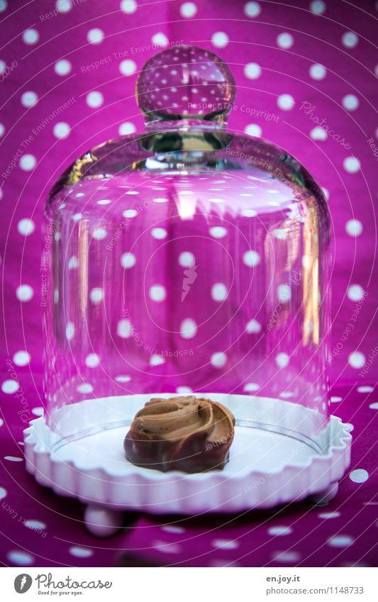 beschützt Freude Liebe Lebensmittel rosa frisch Glas Fröhlichkeit genießen Lebensfreude süß Romantik rund Schutz Punkt lecker Süßwaren