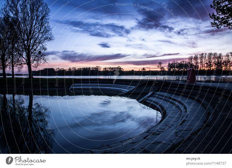keiner da harmonisch Erholung ruhig Ferien & Urlaub & Reisen Umwelt Natur Landschaft Wasser Himmel Nachthimmel Sonnenaufgang Sonnenuntergang Herbst