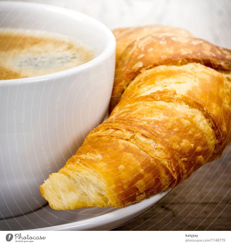 Croissant Kaffee Frühstück Espresso Kaffeetasse Cappuccino Café Blätterteig Tasse Backwaren Straßencafé Kuchen Koffein Milchkaffee Kakao Schokolade heiß Getränk