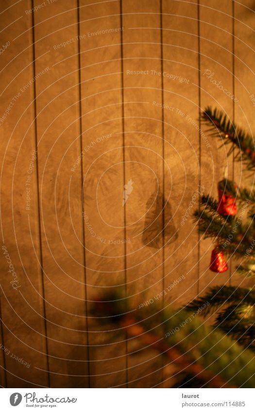 Glockenspiel Weihnachten & Advent Nacht dunkel grün Licht Winter Dekoration & Verzierung Tanne Schatten Zweig Abend Selbstportrait