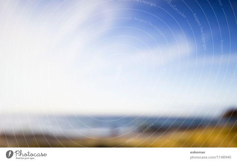 am Meer Himmel Natur Ferien & Urlaub & Reisen blau Sommer Wasser Landschaft Strand Ferne Herbst Frühling Küste Hintergrundbild außergewöhnlich Wellen