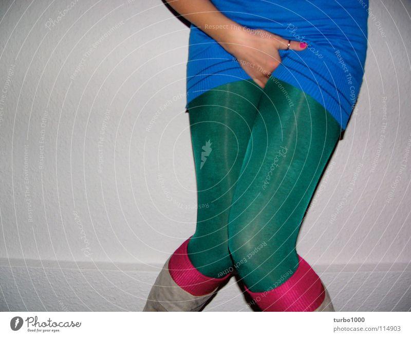 excuse me, while i kiss the sky Frau Jugendliche blau Hand grün Stil Beine Mode rosa modern Bekleidung dünn fangen Toilette trashig obskur