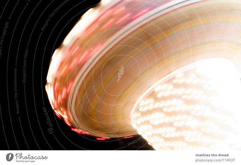 Rotor II Farbe Kreis rund Jahrmarkt Lichtspiel Bildausschnitt Anschnitt rotieren Karussell Weihnachtsmarkt Kreisel Vor dunklem Hintergrund