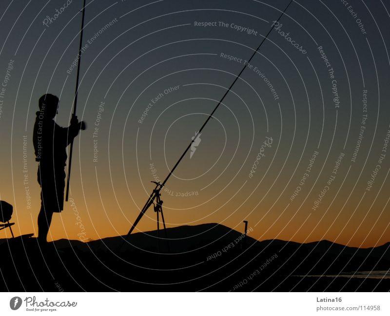 Finding Nemo Angeln Morgen Angler Fischer Angelrute Neapel Italien Freizeit & Hobby Morgendämmerung