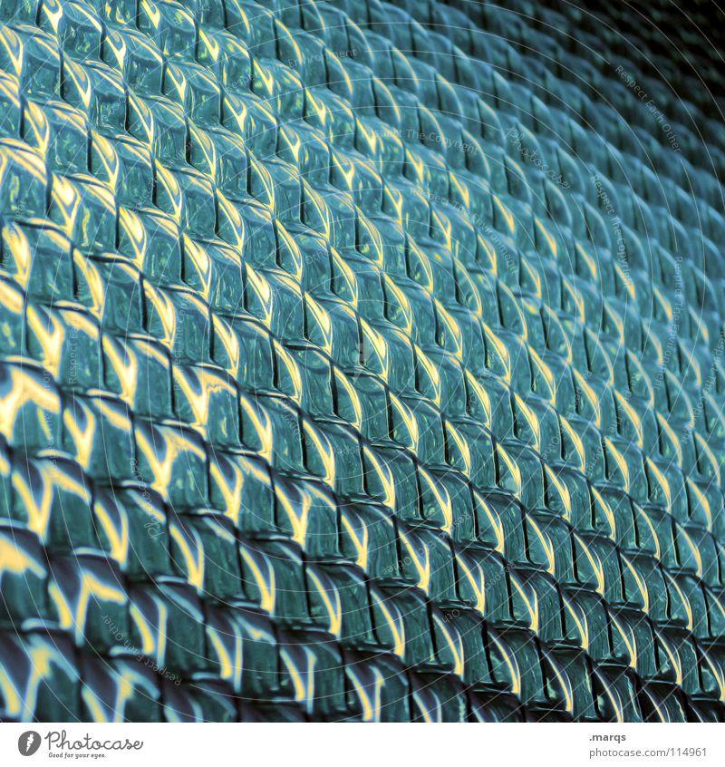 Das Letzte weiß blau schwarz dunkel hell glänzend Glas Hintergrundbild Ecke rund obskur Reihe Geometrie Fensterscheibe Glätte Oberfläche