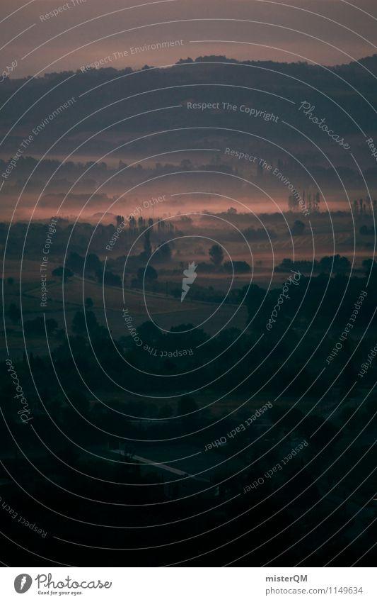 Provence im Nebel I Natur Pflanze Landschaft Umwelt Kunst Zufriedenheit ästhetisch Klima Schönes Wetter Romantik Frankreich verträumt Tal
