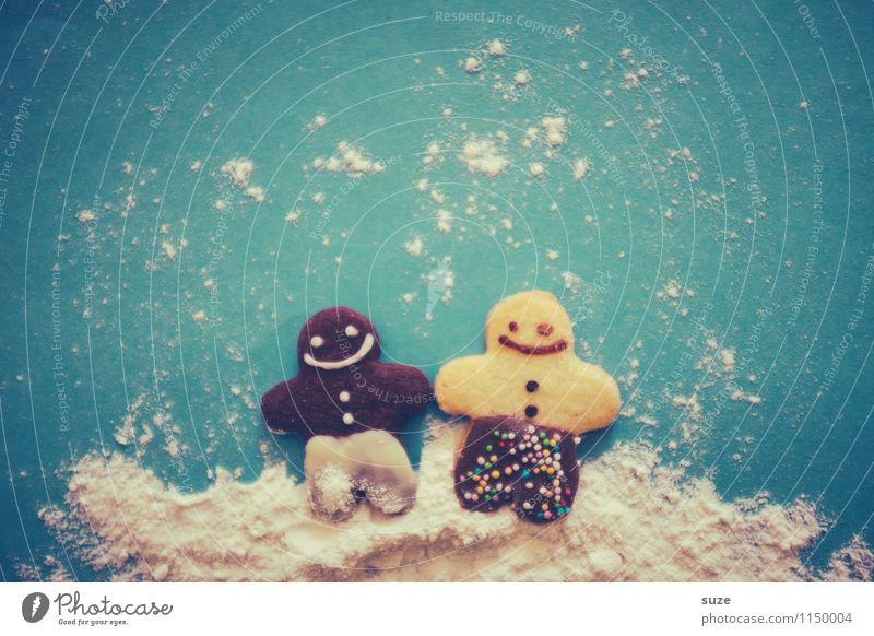 Multi-Kulti Dessert Freizeit & Hobby Feste & Feiern Kind Freundschaft Paar Kultur Puppe lachen Fröhlichkeit Zusammensein niedlich süß blau