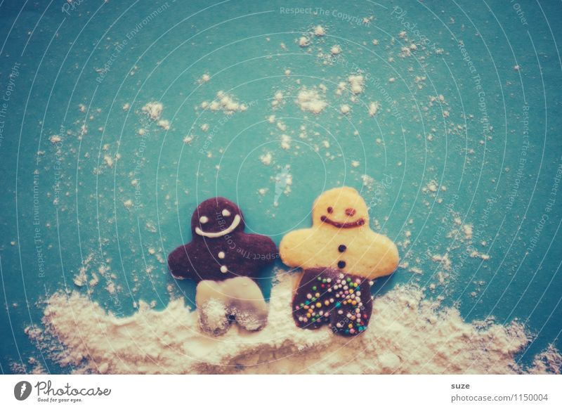 Multi-Kulti Kind blau Weihnachten & Advent Speise Foodfotografie lachen Feste & Feiern Paar Zusammensein Freundschaft Freizeit & Hobby Fröhlichkeit paarweise Kochen & Garen & Backen niedlich süß