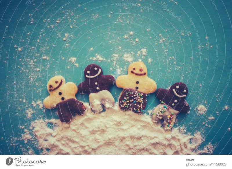 Freundeskreis Dessert Freizeit & Hobby Feste & Feiern Kind Mensch Freundschaft Kultur Puppe lachen Fröhlichkeit Zusammensein niedlich süß blau