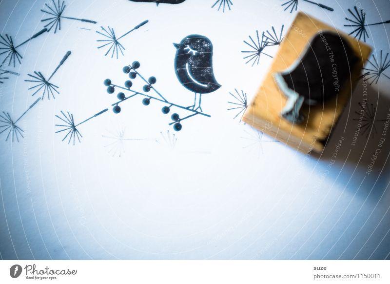 Schnurzpiepegal Lifestyle Stil Design Glück Freizeit & Hobby Basteln Medien Vogel Schreibwaren Papier Stempel einfach klein lustig niedlich trashig schwarz