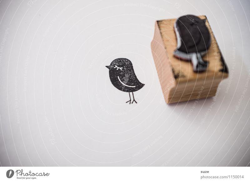 Nicht mit mir! Lifestyle Stil Design Glück Freizeit & Hobby Basteln Medien Printmedien Neue Medien Vogel Schreibwaren Papier Stempel einfach klein lustig