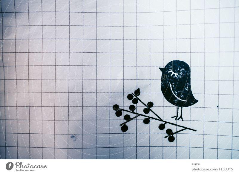 Schmutzfink Tier schwarz lustig Stil Glück klein Stimmung Lifestyle Vogel Freizeit & Hobby Design dreckig Beginn Kreativität einfach Idee