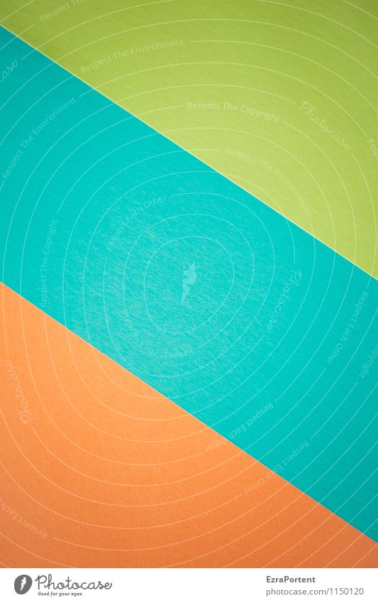 o\b\g blau grün Farbe Stil Hintergrundbild hell orange Design ästhetisch Ecke Grafik u. Illustration graphisch Geometrie diagonal Basteln zusammenpassen