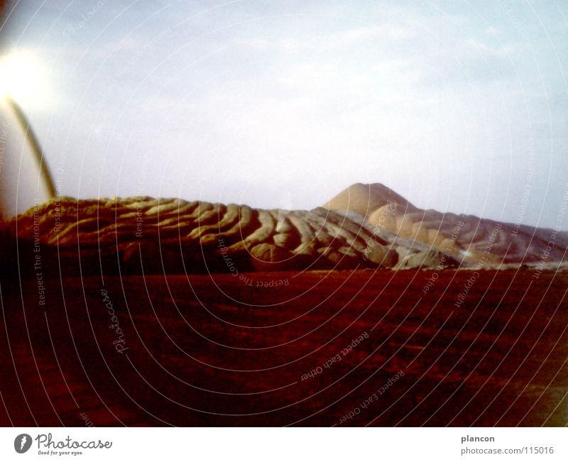 Tagebau Energiewirtschaft obskur Umweltschutz Bergbau Braunkohle Abraumhalden Mondlandschaft