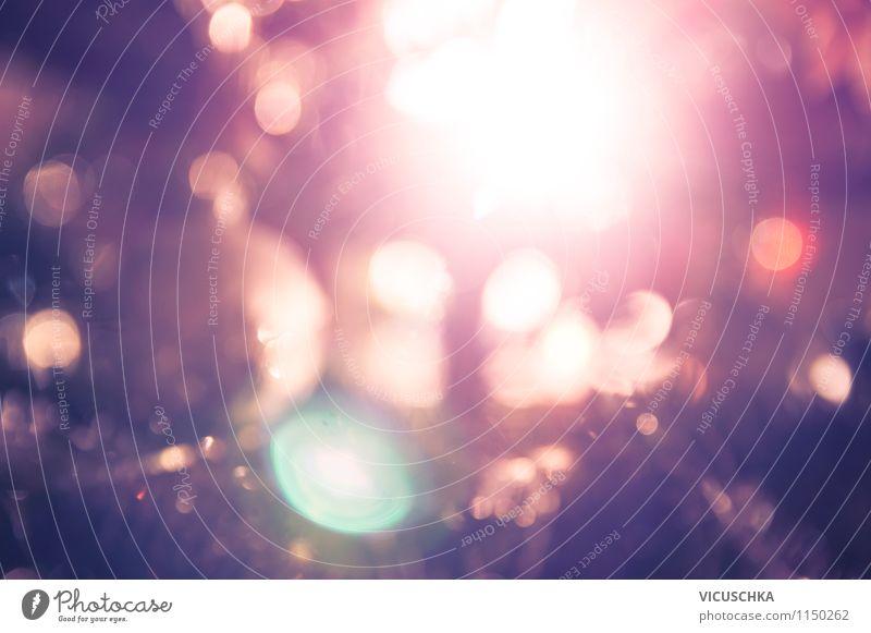 Violett Bokeh Licht Hintergrund Stadt blau Weihnachten & Advent rot dunkel gelb Hintergrundbild Lifestyle Feste & Feiern rosa Design leuchten Fotografie weich