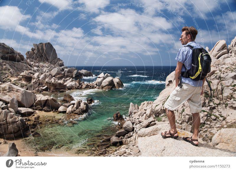 Sardinien entdecken Mensch Natur Ferien & Urlaub & Reisen Jugendliche Meer Landschaft Junger Mann Ferne 18-30 Jahre Strand Erwachsene Leben Wege & Pfade