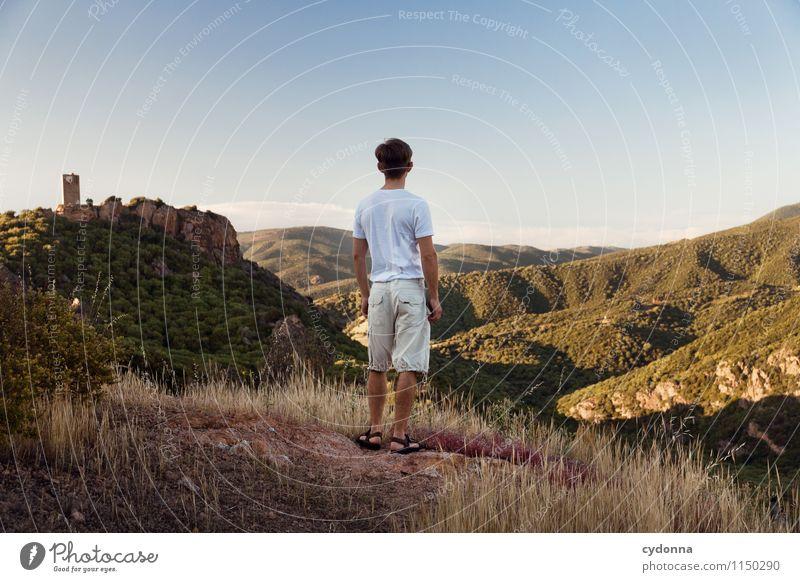 Weites Sardinien harmonisch Erholung ruhig Ferien & Urlaub & Reisen Tourismus Ausflug Abenteuer Ferne Freiheit Mensch Junger Mann Jugendliche Leben 18-30 Jahre