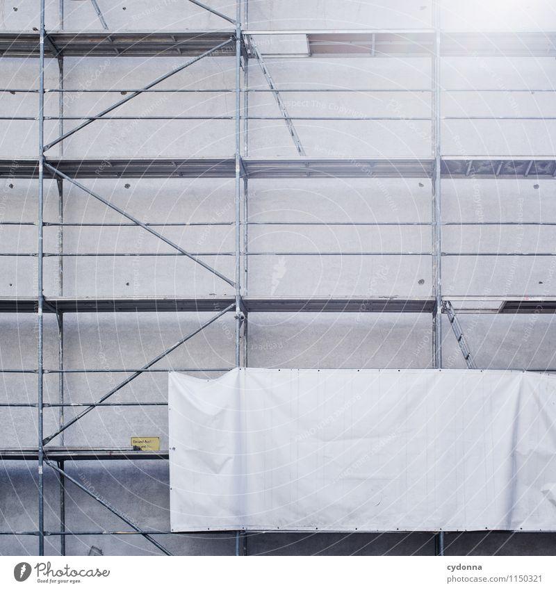 Bauprojektfläche Stadt Haus Wand Architektur Gebäude Mauer Fassade ästhetisch Beginn Zukunft Wandel & Veränderung Baustelle Hilfsbereitschaft planen Niveau