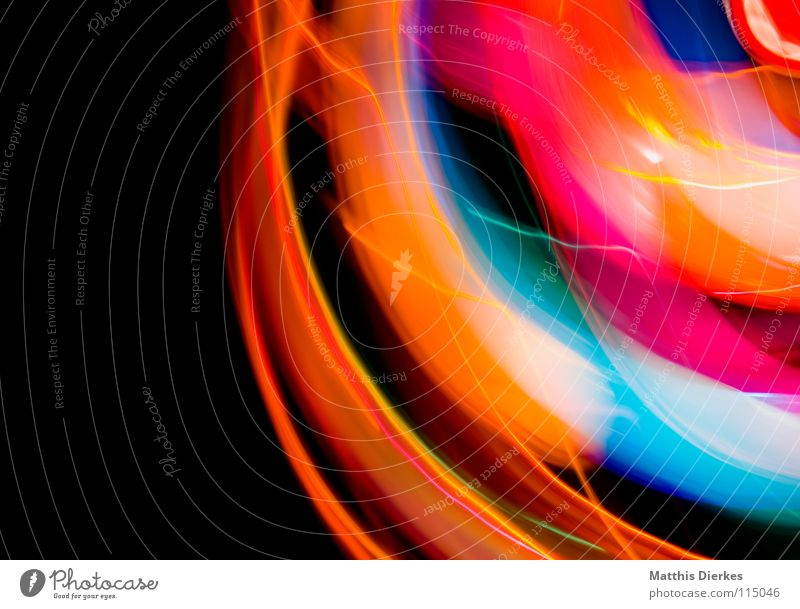 Disko Licht Lichtspiel Lichterkette Stativ Langzeitbelichtung Strahlung Kurve Bilanz Statistik Verlauf Spuren tief Geschwindigkeit kreisen Konjunktur