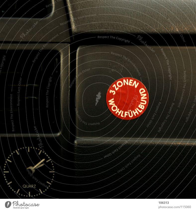 TURBODREAMS alt rot Freude schwarz Leben PKW Zeit 3 Uhr Kreis Hinweisschild Ziffern & Zahlen Wellness Kunststoff Schutz KFZ