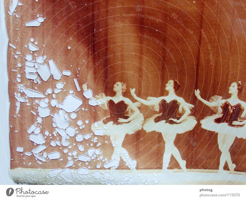 verblasster Glanz Tanzen Fotografie 3 Bühne Sepia Gruß Patina
