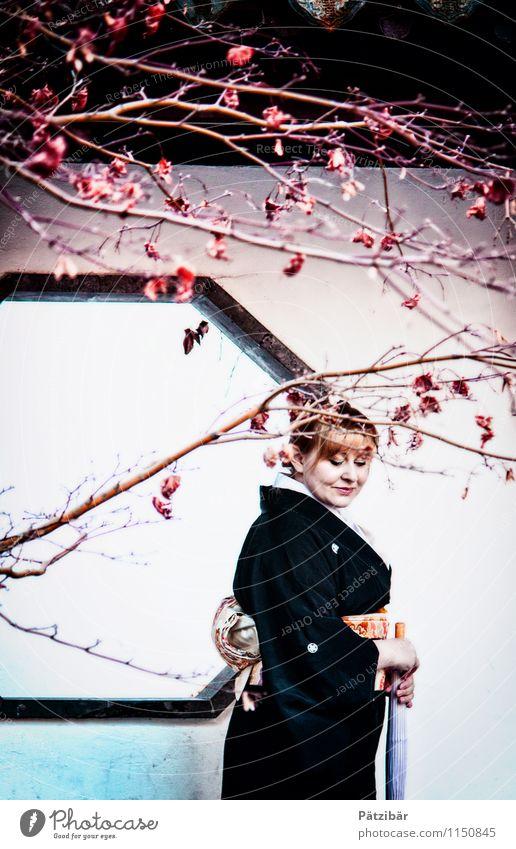 Simple in Japan Mensch Ferien & Urlaub & Reisen Pflanze weiß ruhig Ferne dunkel feminin Religion & Glaube Denken außergewöhnlich Kunst rosa träumen elegant