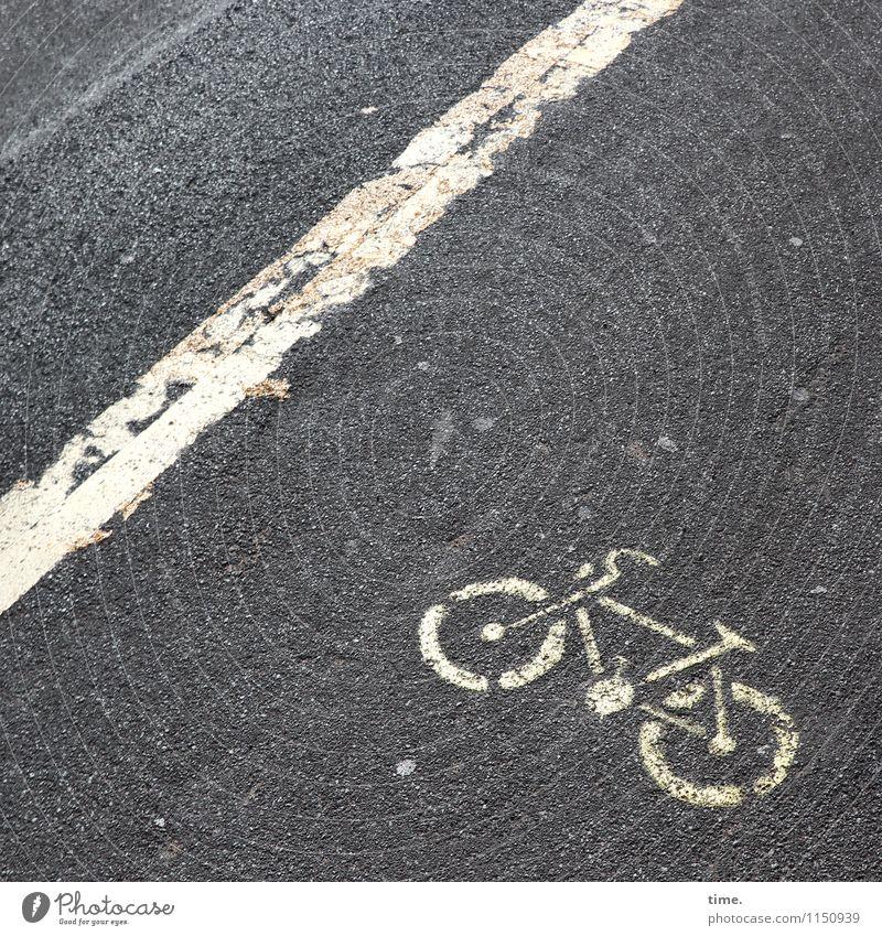Orientierungsempfehlung Straße Wege & Pfade Stein Linie Design Ordnung Verkehr Schilder & Markierungen Perspektive Fahrradfahren Zeichen Streifen