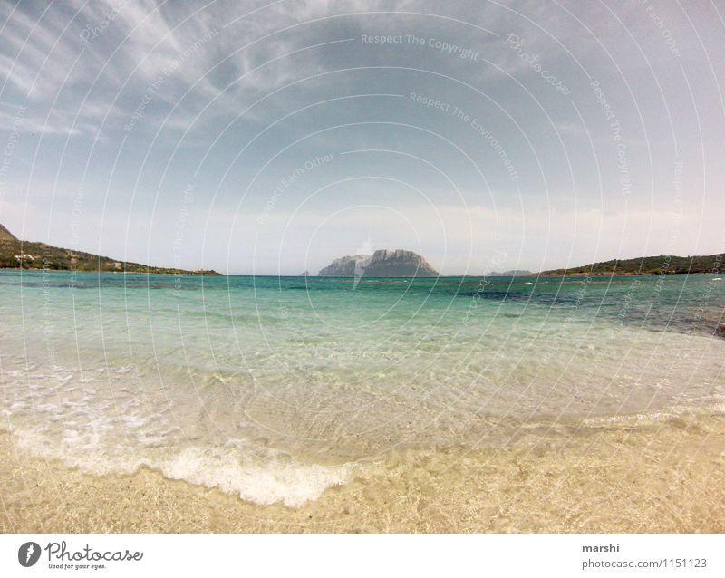 Sardinien Umwelt Natur Landschaft Himmel Frühling Sommer Wetter Schönes Wetter Berge u. Gebirge Küste Strand Bucht Meer Insel Stimmung Reisefotografie Ferne