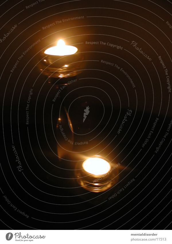 Kerzenlicht 2 Metall Glas Romantik Häusliches Leben Kerzenständer