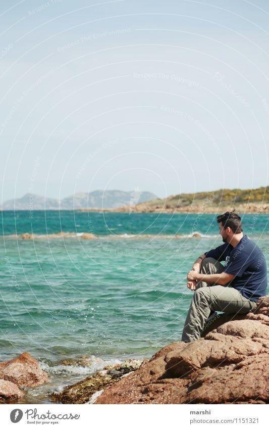 Erholung Freizeit & Hobby Ferien & Urlaub & Reisen Ausflug Ferne Sommerurlaub Sonne Strand Meer Insel Mensch maskulin Junger Mann Jugendliche Erwachsene 1
