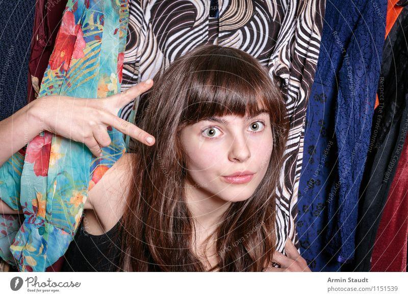 Neulich im Kleiderschrank XI Mensch Frau Kind Jugendliche schön Junge Frau Hand Erwachsene feminin Stil Haare & Frisuren Mode Lifestyle Design elegant