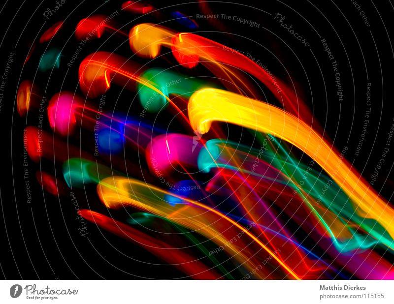 Disko Farbe Traurigkeit Beleuchtung Hintergrundbild Lampe glänzend leuchten hoch Geschwindigkeit Flugzeug Weltall Symbole & Metaphern Glaube Gastronomie Spuren