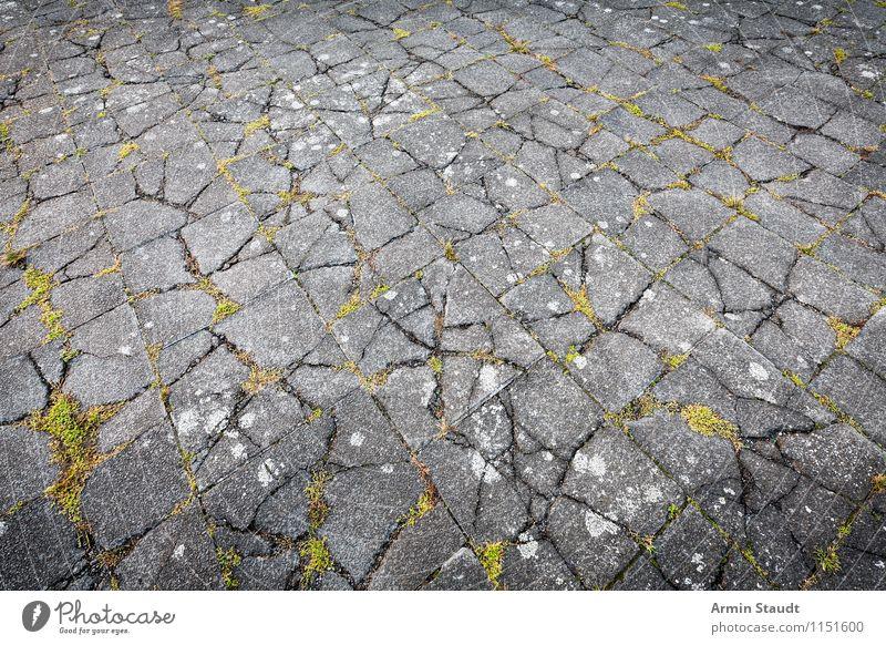 Erdbeben Natur Stadt alt grün Hintergrundbild grau Zeit außergewöhnlich Stein Design dreckig Kraft trist authentisch Platz Vergänglichkeit