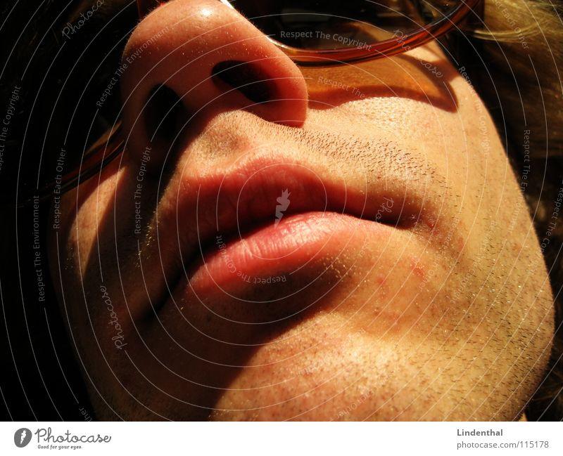 2 Tage Bart Mann Gesicht Haare & Frisuren Mund Nase Brille Lippen Strahlung Sonnenbrille Stoppel Nasenloch Nasenhaar