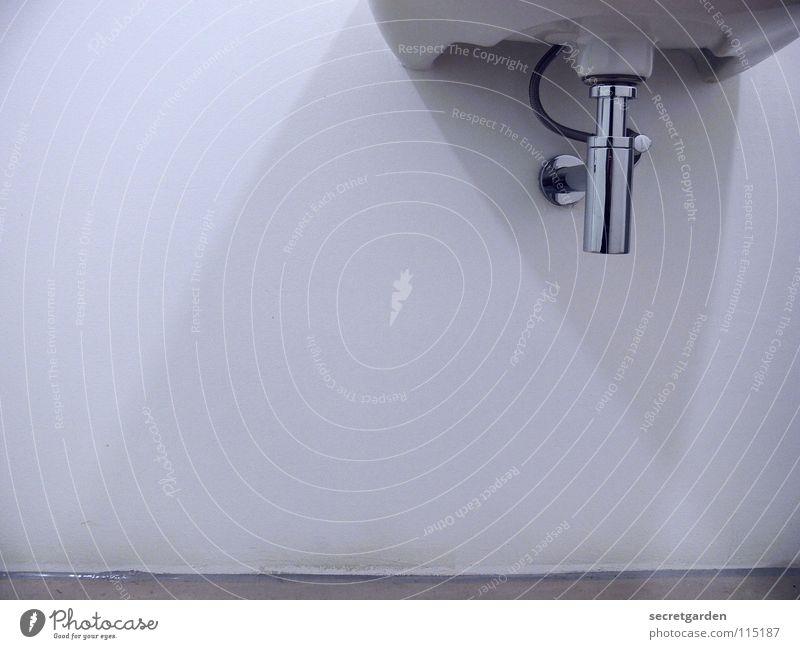 minimalismus im bad III Bad sehr wenige Haus Wand Raum weiß ruhig Erholung nass Sauberkeit Wohnung Möbel puristisch rein erleuchten rund eckig Ecke Beton